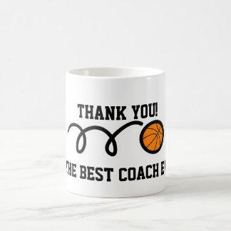 Tasse de café d'entraîneur de football de Merci