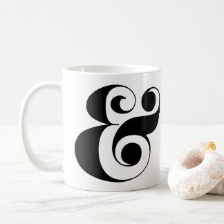 Tasse de café d'esperluète, police lunatique