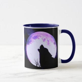 Tasse de café d'hurlement de loup