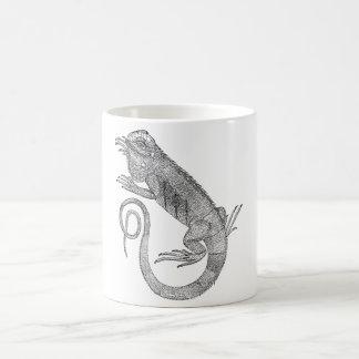 Tasse de café d'iguane