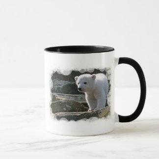 Tasse de café d'ours blanc de bébé