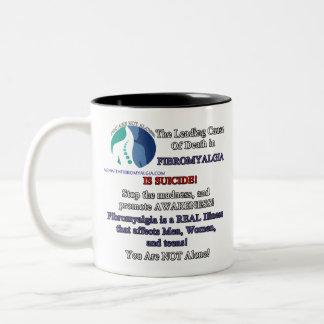 Tasse de café droitière - fibromyalgie et suicide