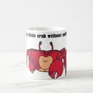 Tasse de café drôle de crabe