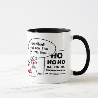 Tasse de café drôle de Père Noël de bande dessinée