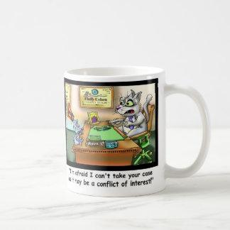 Tasse de café drôle drôle de chat et d'avocat