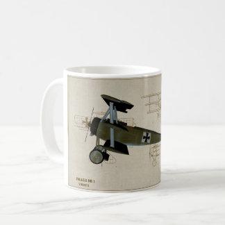Tasse de café du combattant WWI du Fokker DR 1