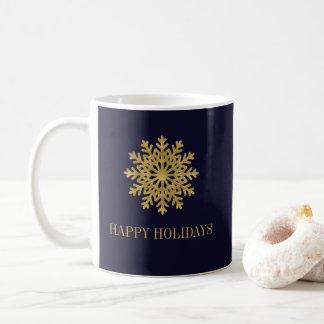 Tasse de café élégante de vacances de flocon de