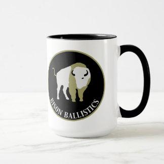 Tasse de café en céramique de balistique de bison