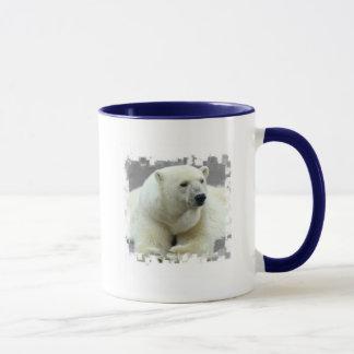 Tasse de café en céramique d'ours blanc