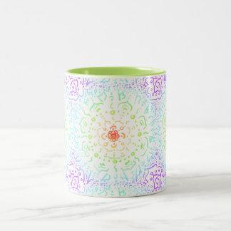 Tasse de café en pastel de motif de mandala