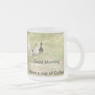 Tasse de café en verre d'oies