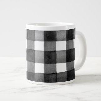 Tasse de café enorme de guingan d'aquarelle