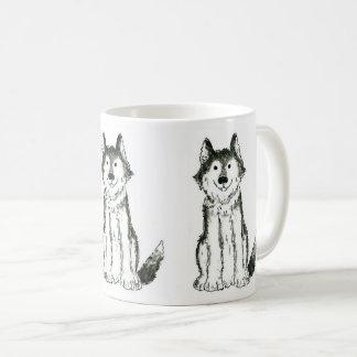 Tasse de café enrouée