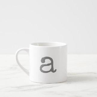 Tasse de café express de monogramme de Gifting