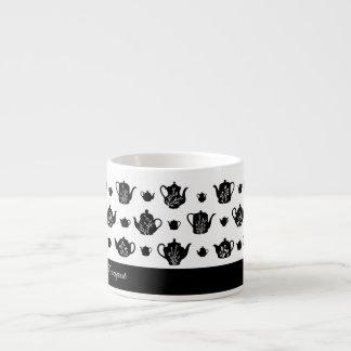 Tasse de café express d'impression de théière