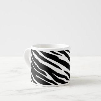 Tasse de café express d'impression de zèbre tasse expresso