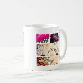 Tasse de café faite sur commande de collage de