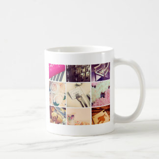Tasse de café faite sur commande de collage de