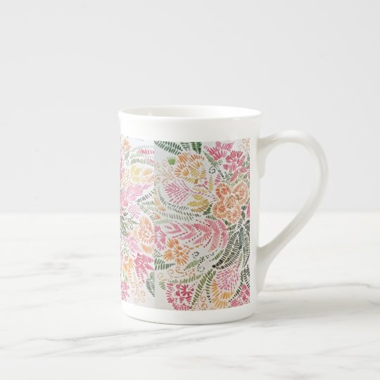 Tasse de café florale
