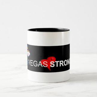 Tasse de café forte de ton du noir deux de Vegas