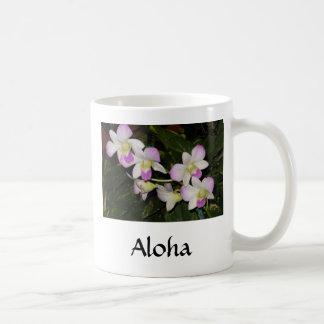 Tasse de café hawaïenne d'orchidée