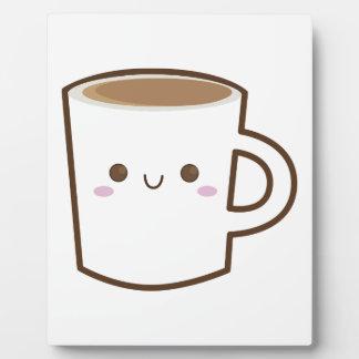 Tasse de café heureuse plaque photo