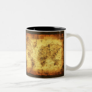 Tasse de café historique vintage antique de carte
