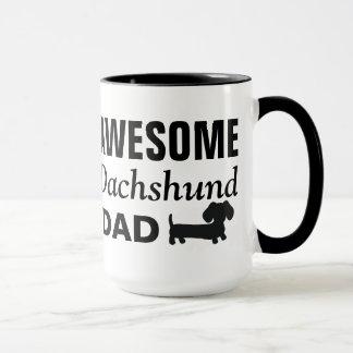 Tasse de café impressionnante de papa de teckel