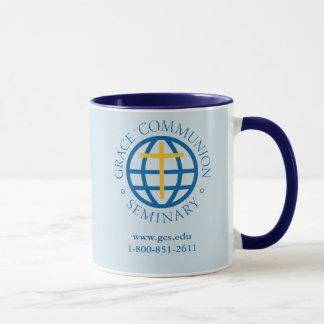 tasse de café, intérieur bleu-foncé et poignée