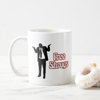 Tasse de café libre drôle de Shrugs