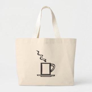 Tasse de café lisse sacs fourre-tout