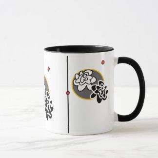 Tasse de café lumineuse contemporaine de fleur