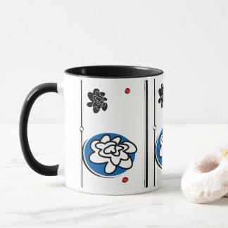 tasse de café lumineuse de fleur d'amusement
