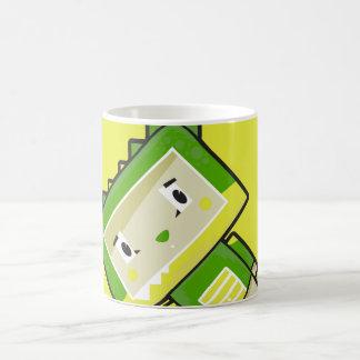 Tasse de café mignonne de crocodile de Blockimals
