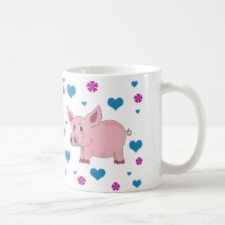 Tasse de café mignonne de porc