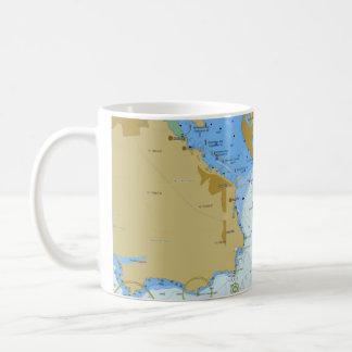 Tasse de café nautique de diagramme
