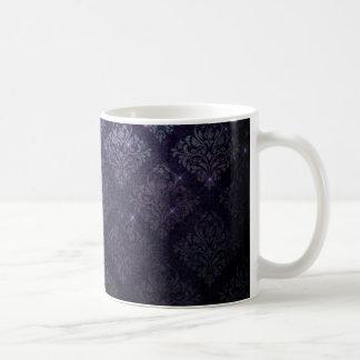Tasse de café noir baroque gothique de diamant