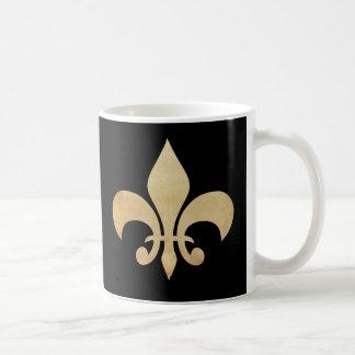 Tasse de café noir de Fleur de Lis
