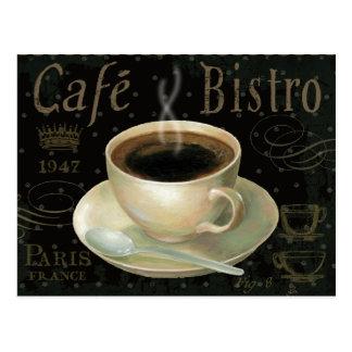 Tasse de café noire carte postale