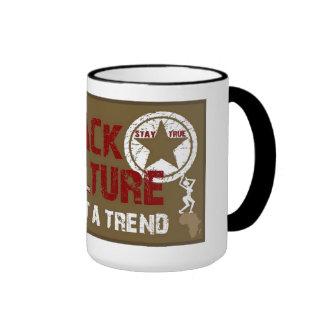 Tasse de café noire de culture
