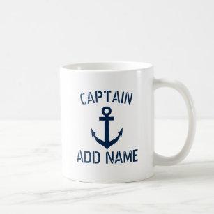 Tasse de café nommée d'ancre de marine de