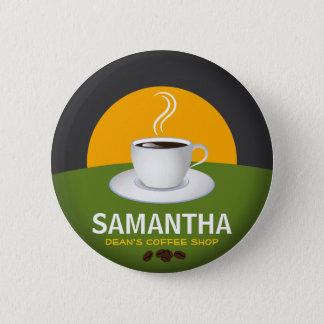 Tasse de café nommée de café-restaurant pin's