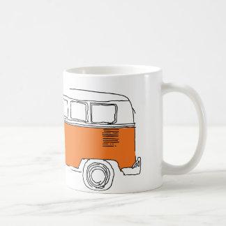 Tasse de café ORANGE de FOURGON/autobus