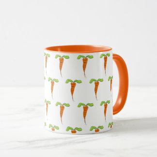 Tasse de café orange mignonne d'aquarelle de fin