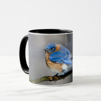 Tasse de café orientale d'oiseau bleu