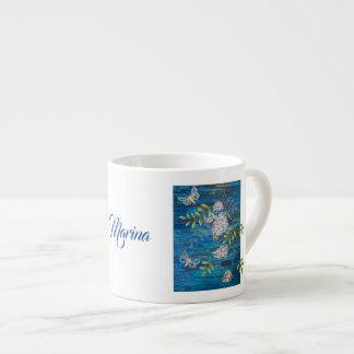 Tasse de café personnalisée avec des mites et des