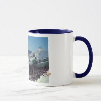 Tasse de café pittoresque de Santorini