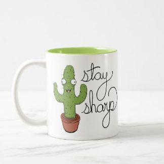 Tasse de café pointue de séjour drôle de cactus