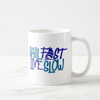Tasse de café rapide de voile pour le marin