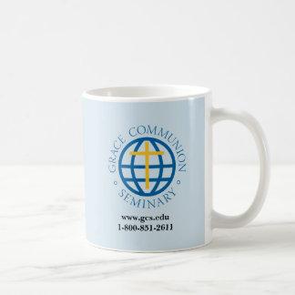 Tasse de café régulière avec le logo de GCS, site